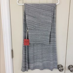 NWT! Heather Grey Striped Maxi Skirt Size XXL